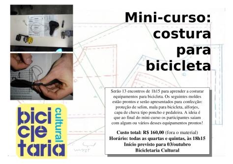 curso de COSTURA para ACESSÓRIOS DE BICICLETA