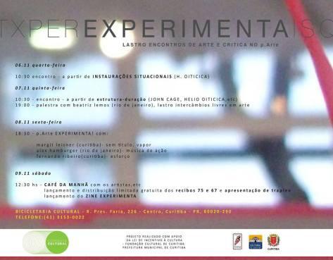 Experimenta: Plataforma Lastro na crítica e arte do p.ARTE