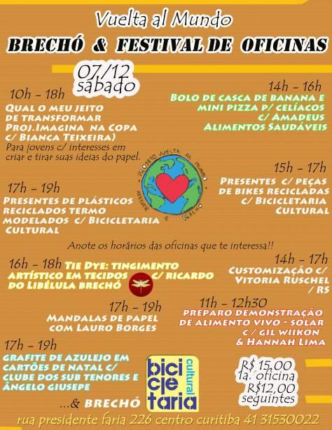 DIA 07/12 - OFICINAS IMPERDÍVEIS E BRECHÓ DA VITORIA RUSCHEL/ RS